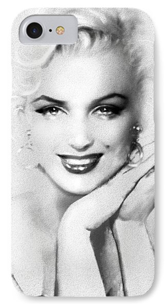 Theo's Marilyn 133 Bw IPhone Case