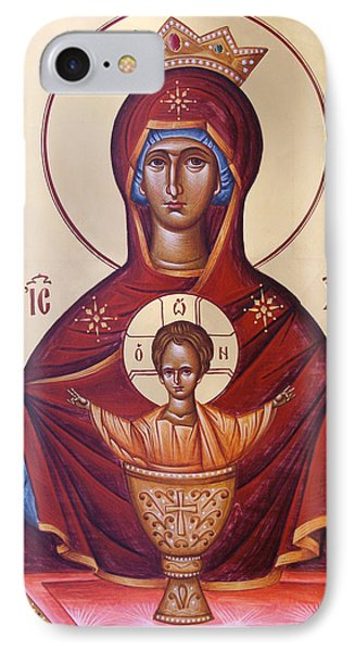 Theotokos The Inexhaustable Cup Phone Case by Julia Bridget Hayes