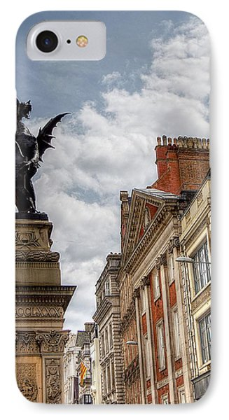 There Be Dragons In London IPhone Case