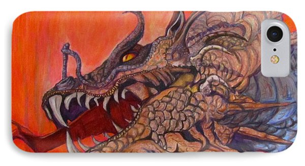 There Once Were Dragons IPhone Case by Barbara O'Toole