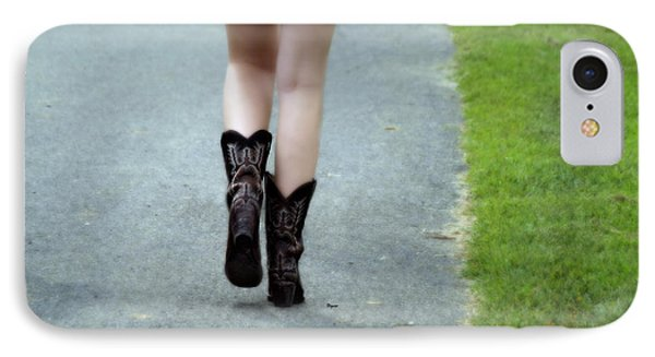These Boots Are Made For Walking Phone Case by Steven  Digman