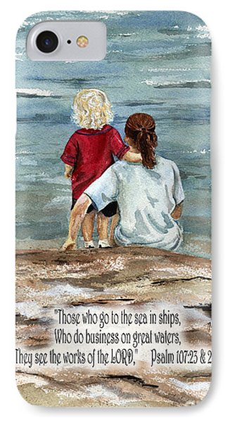 They See The Works Of The Lord  IPhone Case by Nancy Patterson