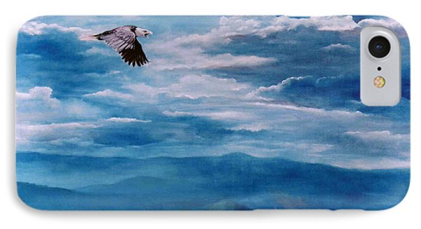 They Shall Mount Up On Wings Of Eagles Phone Case by Ann  Cockerill