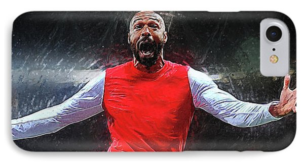 Thierry Henry IPhone Case by Semih Yurdabak