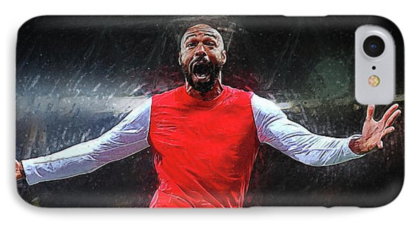 Thierry Henry IPhone 7 Case by Semih Yurdabak
