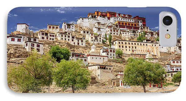 IPhone Case featuring the photograph Thikse Monastery by Alexey Stiop