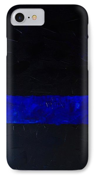 Thin Blue Line IPhone Case by Sarah Jane Thompson