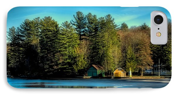 Thin Ice Forming At The Pond IPhone Case by David Patterson