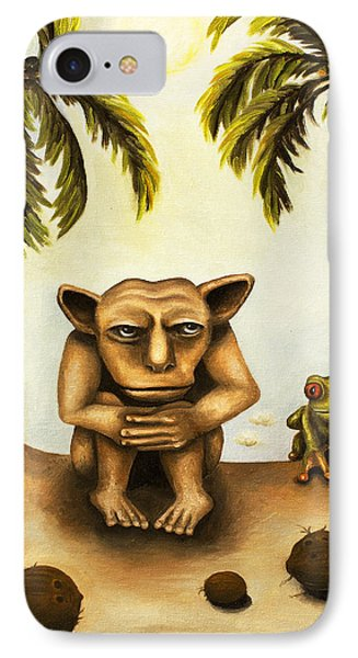 Thinking About Coconuts Phone Case by Leah Saulnier The Painting Maniac