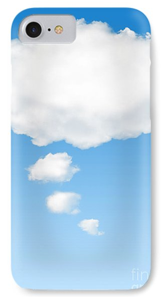 Thinking Cloud IPhone Case by Carlos Caetano