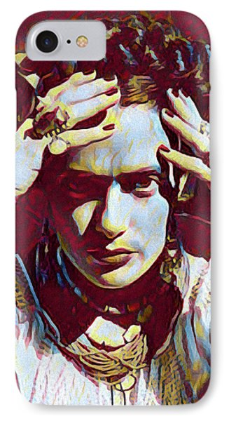 Thinking Frida IPhone Case by Gary Grayson