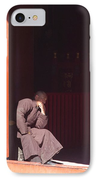 Thinking Monk IPhone Case by Sebastian Musial