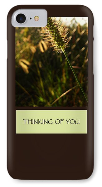 Thinking Of You IPhone Case by Mary Ellen Frazee