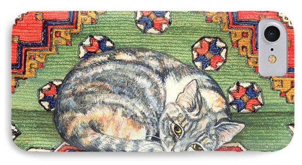 Third Carpet Cat Patch IPhone Case by Ditz