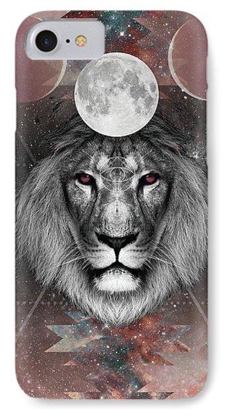 Third Eye Lion Vision Phone Case by Lori Menna