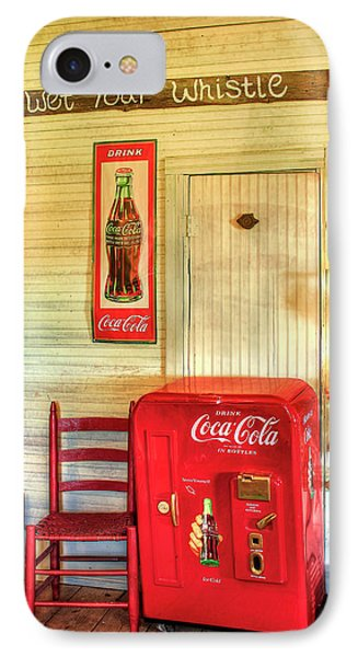 Thirst-quencher Old Coke Machine IPhone Case by Reid Callaway