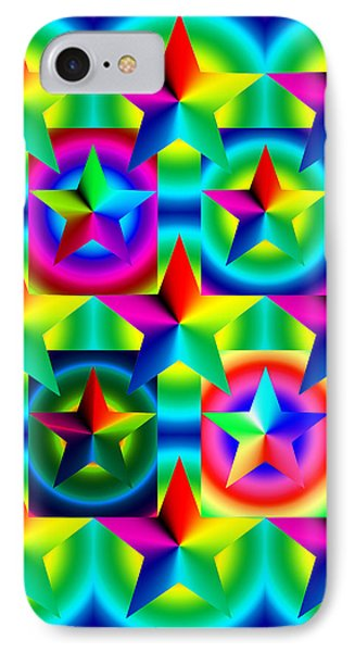 Thirteen Stars With Ring Gradients Phone Case by Eric Edelman