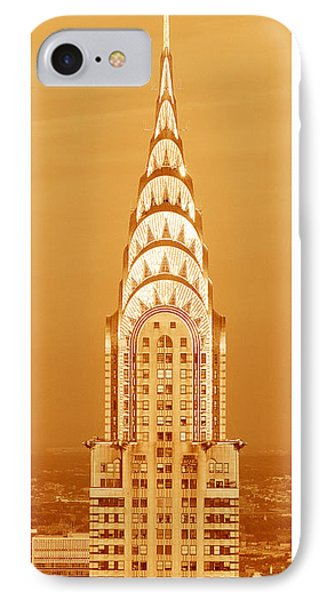 Chrysler Building iPhone 7 Case - Chrysler Building At Sunset by Panoramic Images