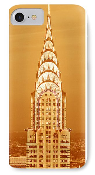 Architecture iPhone 7 Case - Chrysler Building At Sunset by Panoramic Images