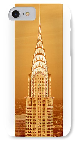 Chrysler Building At Sunset IPhone 7 Case by Panoramic Images