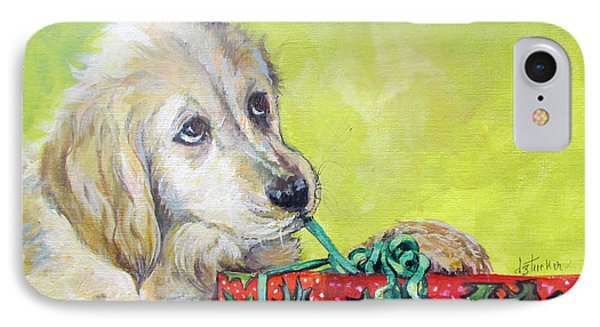 IPhone Case featuring the painting This Is Mine? Right? by Donna Tucker