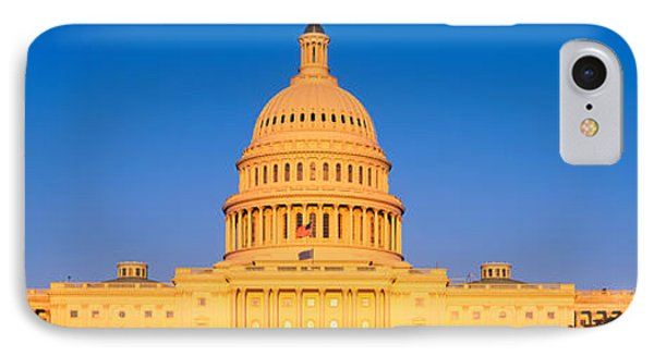 This Is The U.s. Capitol At Sunset. It IPhone Case by Panoramic Images