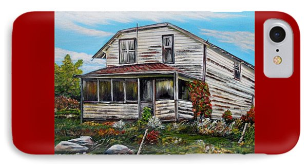 IPhone Case featuring the painting This Old House 2 by Marilyn  McNish