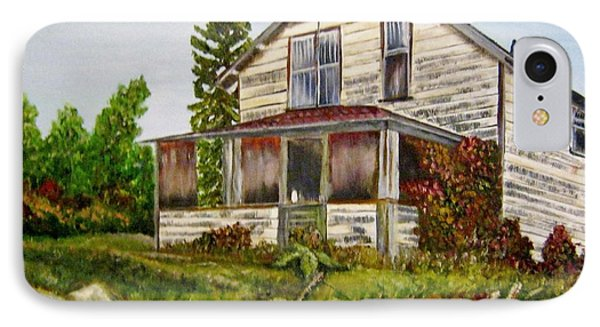 IPhone Case featuring the painting This Old House by Marilyn  McNish