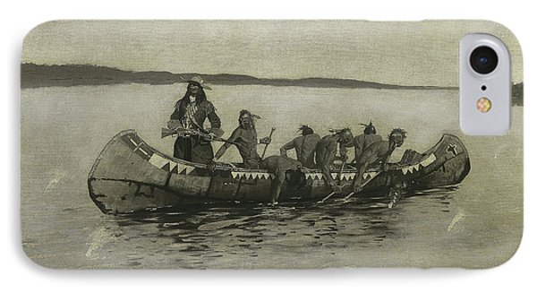 This Was A Fatal Embarkation IPhone Case by Frederic Remington