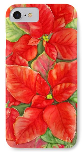 This Year's Poinsettia 1 IPhone Case by Inese Poga