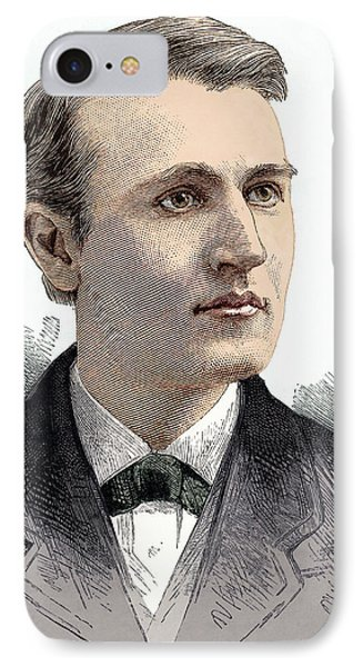 Thomas Edison, American Inventor Phone Case by Sheila Terry