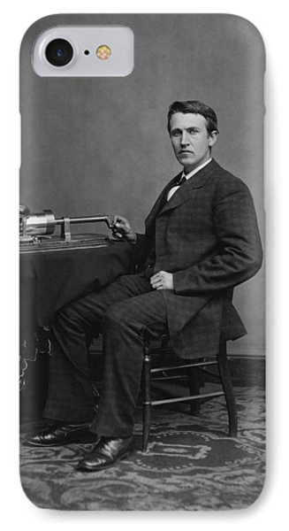 Thomas Edison And His Phonograph IPhone Case