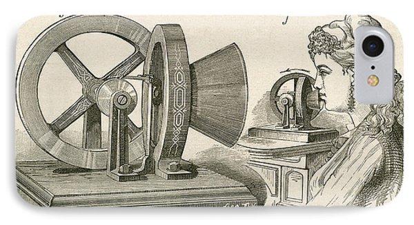 Thomas Edison S Sound Meter. A Machine IPhone Case