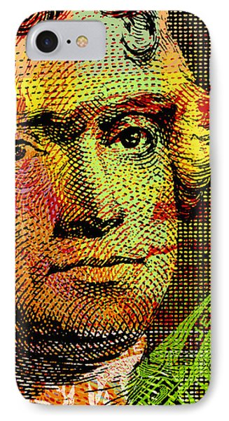 IPhone Case featuring the digital art Thomas Jefferson - $2 Bill by Jean luc Comperat