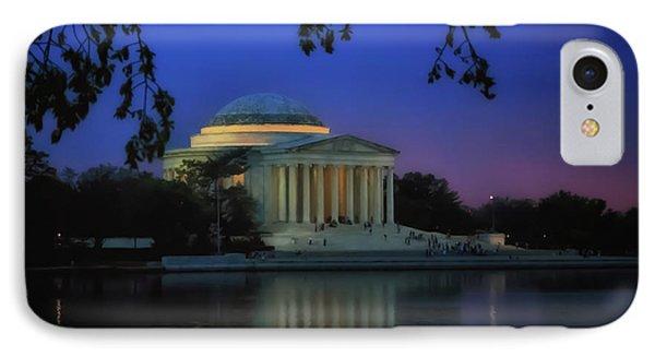 Thomas Jefferson Memorial Sunset IPhone Case by Elizabeth Dow