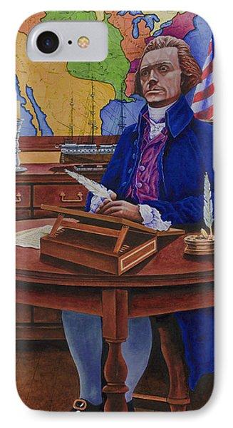 Thomas Jefferson IPhone Case by Michael Frank