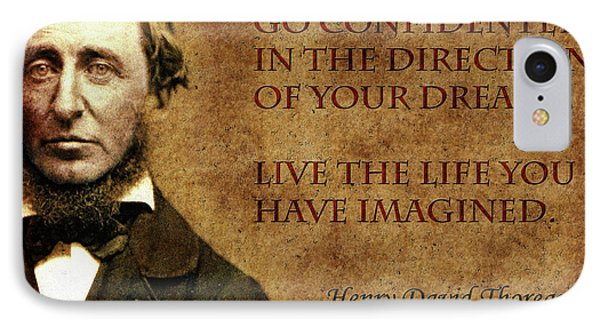 Thoreau Quote 1 IPhone Case by Andrew Fare