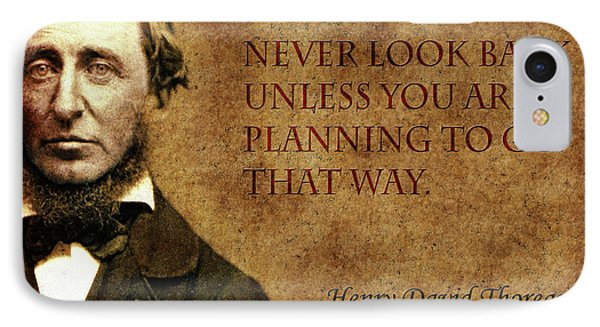 Thoreau Quote 2 IPhone Case by Andrew Fare