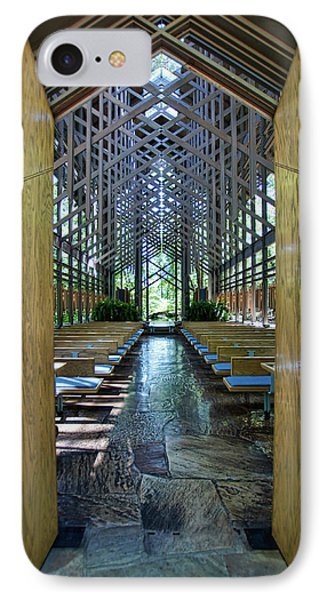 IPhone Case featuring the photograph Thorncrown Chapel Entrance by Cricket Hackmann