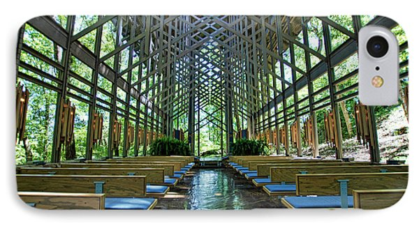 IPhone Case featuring the photograph Thorncrown Chapel Interior by Cricket Hackmann
