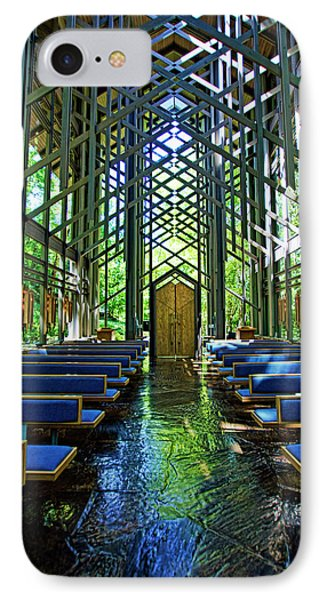 IPhone Case featuring the photograph Thorncrown Chapel Serenity by Cricket Hackmann