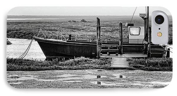 Thornham Harbour, North Norfolk IPhone Case by John Edwards