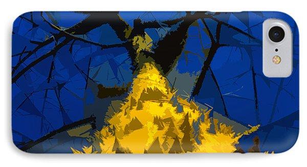 Thorny Tree Blue Sky Phone Case by David Lee Thompson