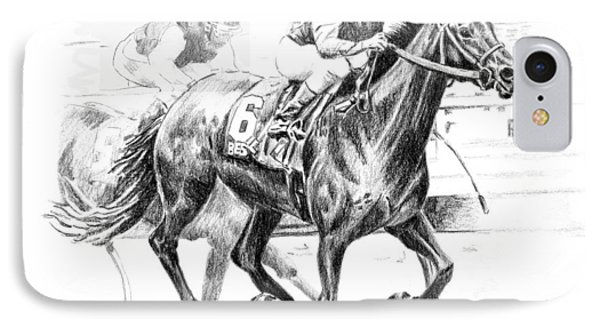Thoroughbred Best Pal IPhone Case by Arline Wagner