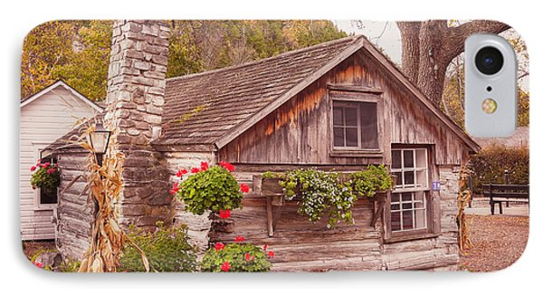 IPhone Case featuring the photograph Thorp Cabin Door County Wisconsin by Heidi Hermes