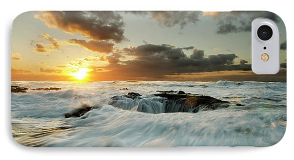 IPhone Case featuring the photograph Thors Well Cape Perpetua 1 by Bob Christopher
