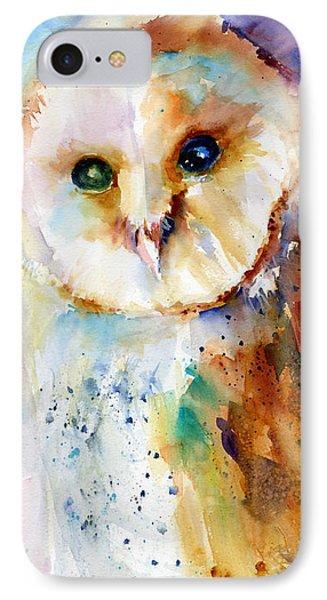 Thoughtful Barn Owl Phone Case by Christy Lemp
