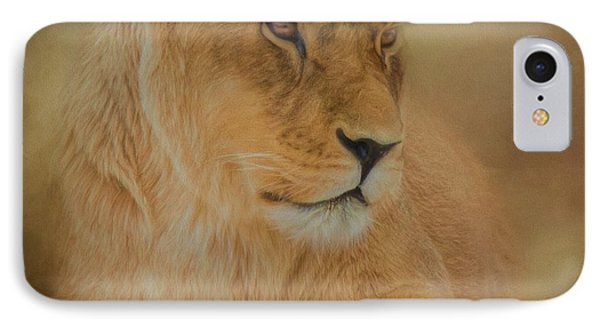 Thoughtful Lioness - Square IPhone Case