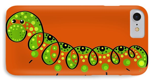 Thoughts And Colors Series Caterpillar  IPhone Case by Veronica Minozzi