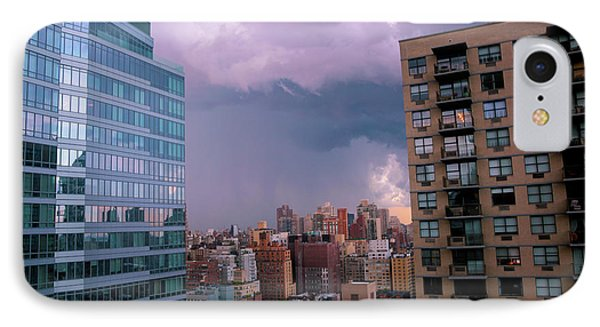 IPhone Case featuring the photograph Threatening Storm - Manhattan - 2016 by Madeline Ellis